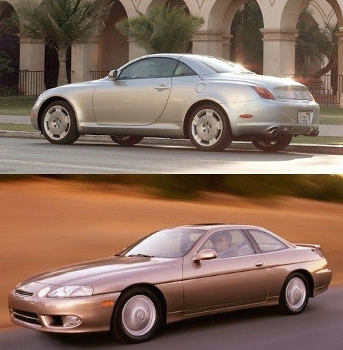 Lexus SC 430 (Top) SC 300 (Bottom)