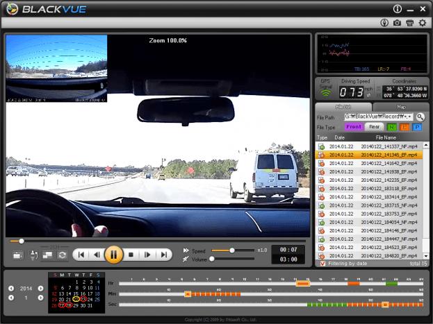 BlackVue DR550GW-2CH Interface