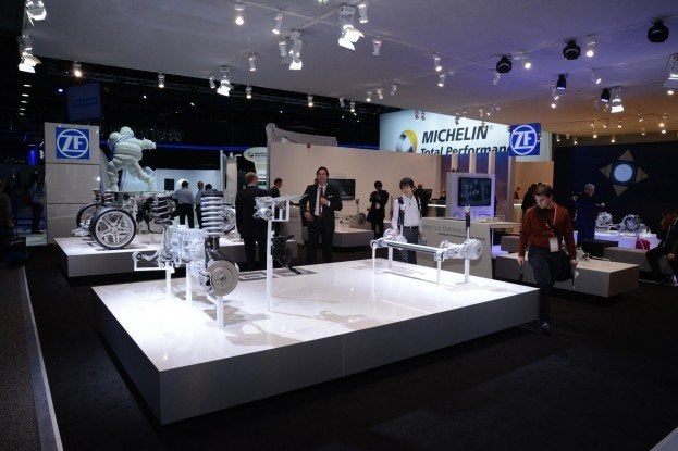 ZF display at 2014 Detroit Auto Show