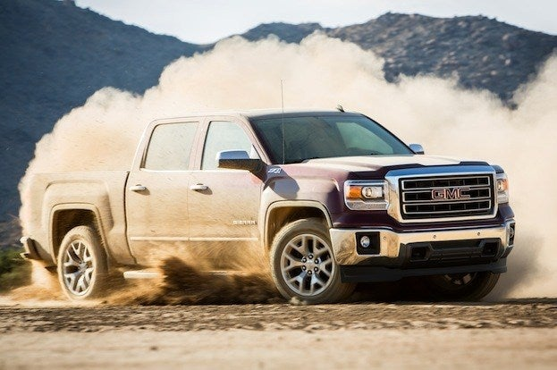 2014 GMC Sierra in the dirt