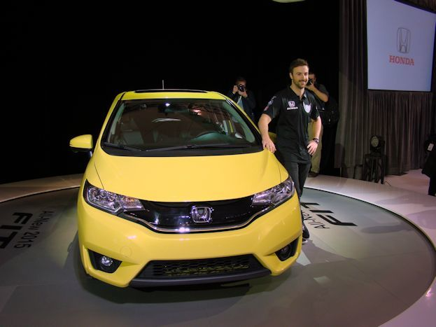James Hinchcliffe with Honda Fit