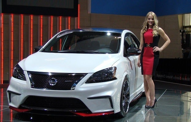 Model with Nissan Sentra Nismo Concept 2