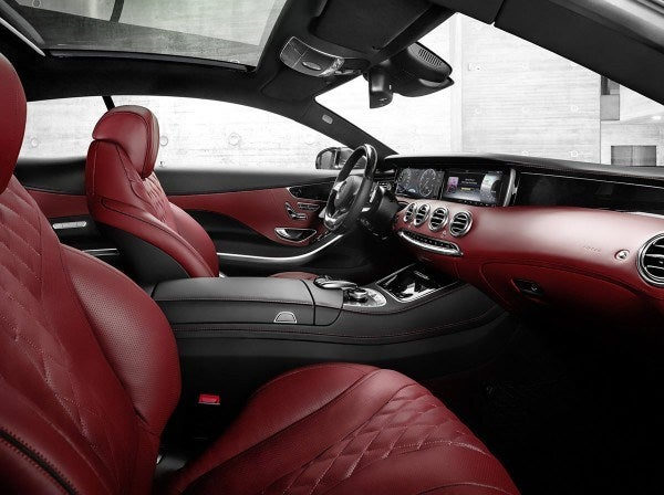 2015 Mercedes Benz S Class Coupe inside