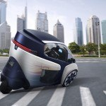 Toyota i-Road driving