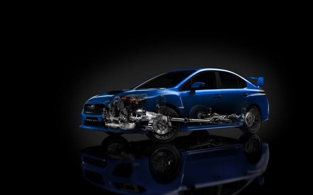 2015 Subaru WRX STI cutaway