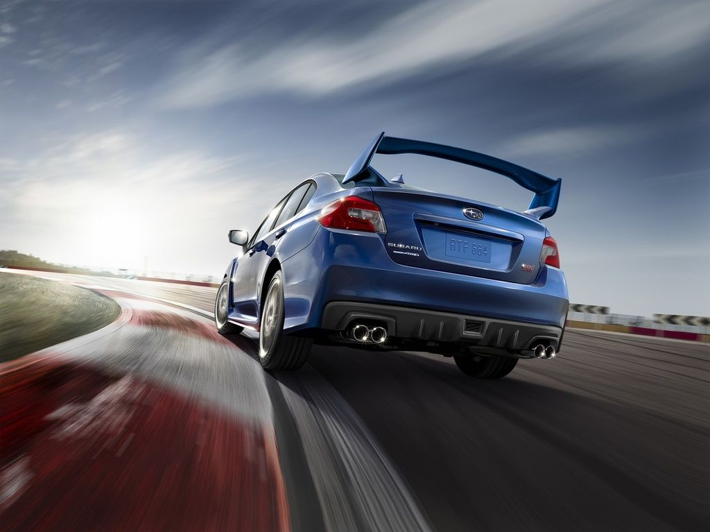 2015 Subaru WRX STI rear driving