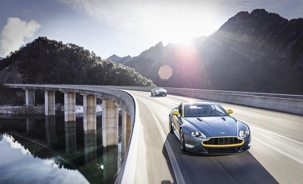Aston Martin DB9 Carbon Edition & V8 Vantage GT Race into NYIAS 21