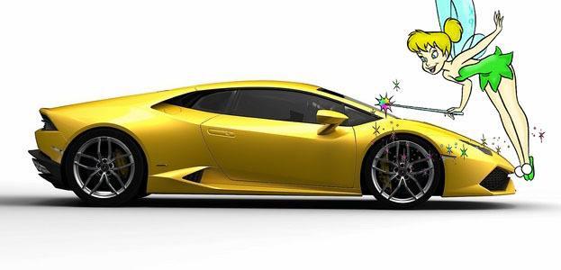 Lamborghini Huracan with Tinkerbell