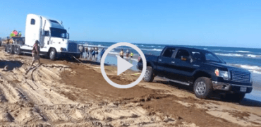 Heroic F 150 370x180 - Beached Tractor Trailer Rescued by Heroic F-150