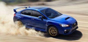 2015 Subaru WRX STI sliding