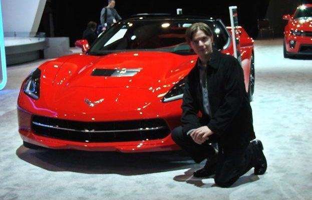 Chris Nagy with Red Chevy Corvette Stingray