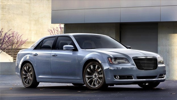 2014 Chrysler 300 equipped with the TorqueFlite Transmission.  The 300 hold the best-in-class highway fuel economy for a full-size AWD sedan with a V-6 (27 mpg city)