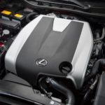 2014 Lexus IS350 F Sport engine cover on