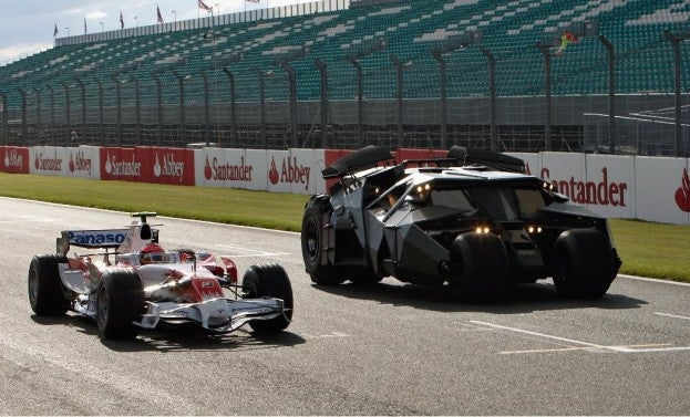 Toyota F1 Car with Batman Tumbler
