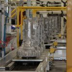 Transmission cases travel down the assembly line at Chrysler Group's Kokomo Transmission Plant.