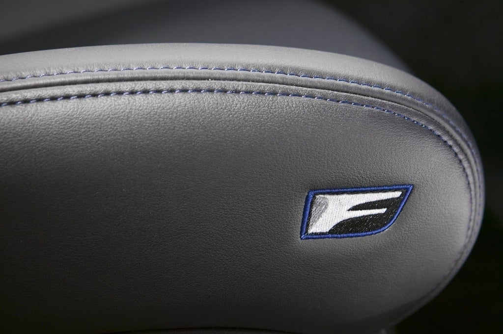 Lexus IS F seat badge