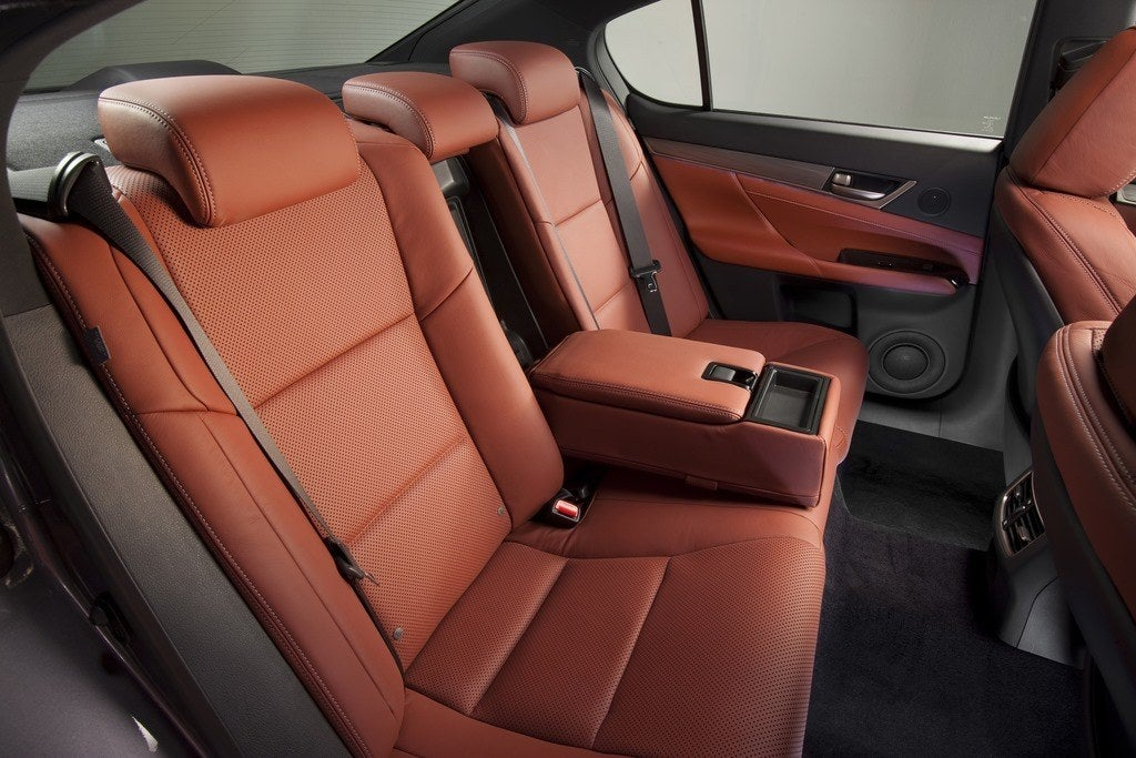 2014 Lexus GS350 F Sport rear seats