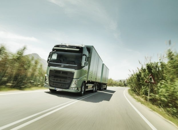 Volvo Truck on road