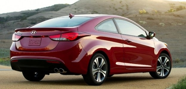 2014 Hyundai Elantra Coupe rear