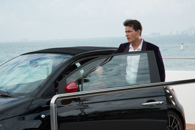 Charlie Sheen and Fiat 500 Abarth