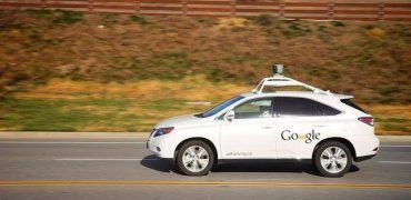 Google testing one of their self-driving cars (Image credit: Lokan Sardari)