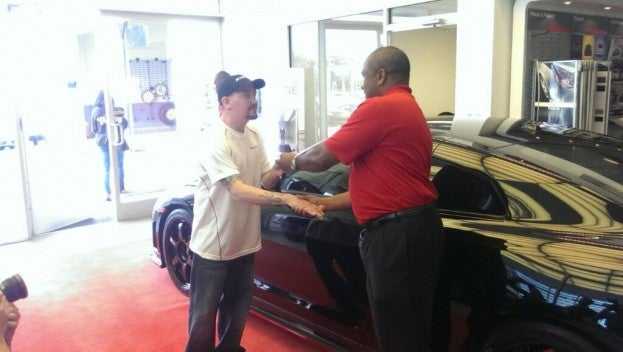 Getting the keys to the 1st Nismo GTR in the US