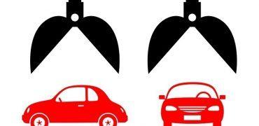 Car icon on white background