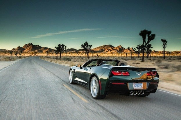 2015 Corvette Stingray Behind the wheel