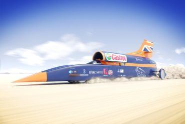 Bloodhound SSC Rendering in Desert