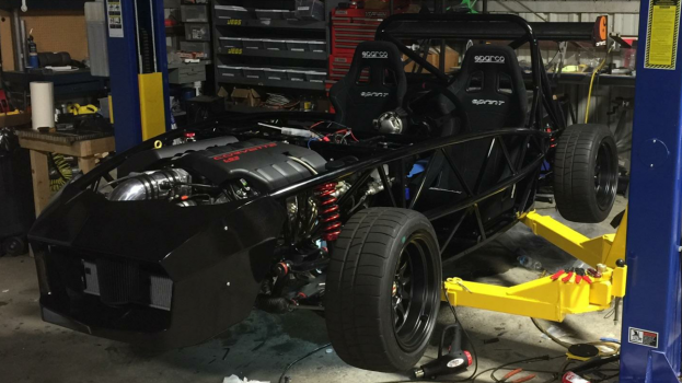 Exoframe Roadster Exocet with 525hp LS3 on lift