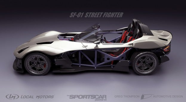 Exoframe Roadster Local Motors SF-01 side view