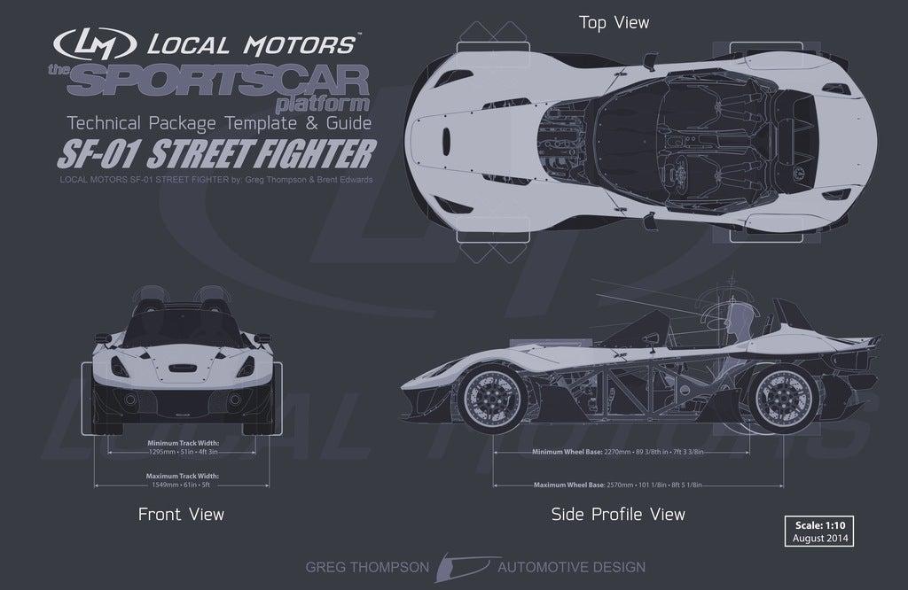 Local Motors SF-01 spec sheet