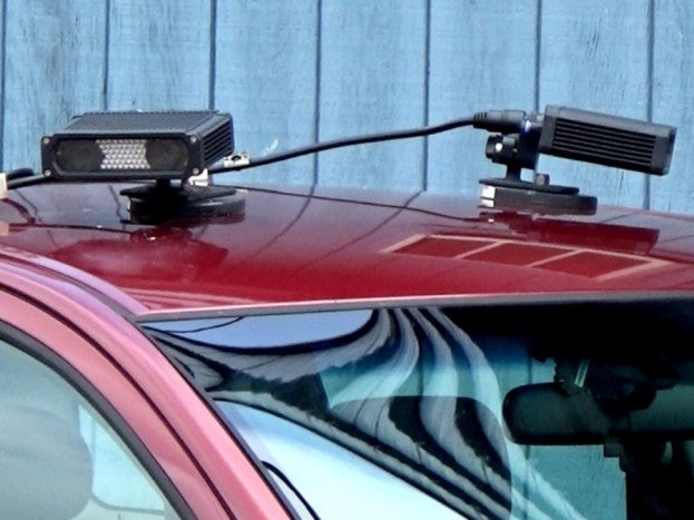 Repo car with cameras on roof