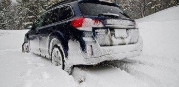 Outback in the snow 370x180 - Snow Tires vs AWD: Which Gets Your Ass to Work Alive?