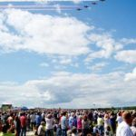 Red Arrows and Crowd