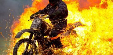 Stunt Zone fire 370x180 - Wings & Wheels - The Best UK Motoring Event You've Never Heard Of