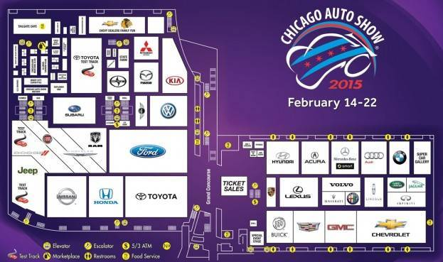 Chicago Auto Show 2015 Layout