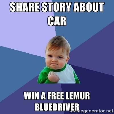 Success Kid BlueDriver Contest