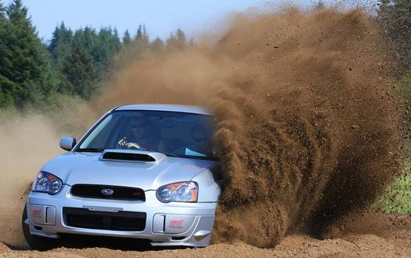 Subaru WRX rallying
