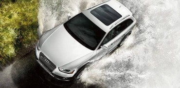Audi allroad in Glacier White Metallic