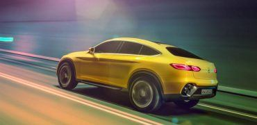 Mercedes-Benz GLC Coupe concept Left Rear In Motion