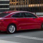 2015 Lexus ES hybrid exterior matador red mica overlay
