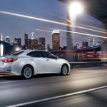 2015 Lexus ES hybrid exterior starfire pearl action overlay