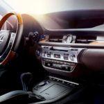 2015 Lexus ES hybrid interior black leather trim overlay