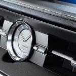 ES hybrid interior analog clock overlay