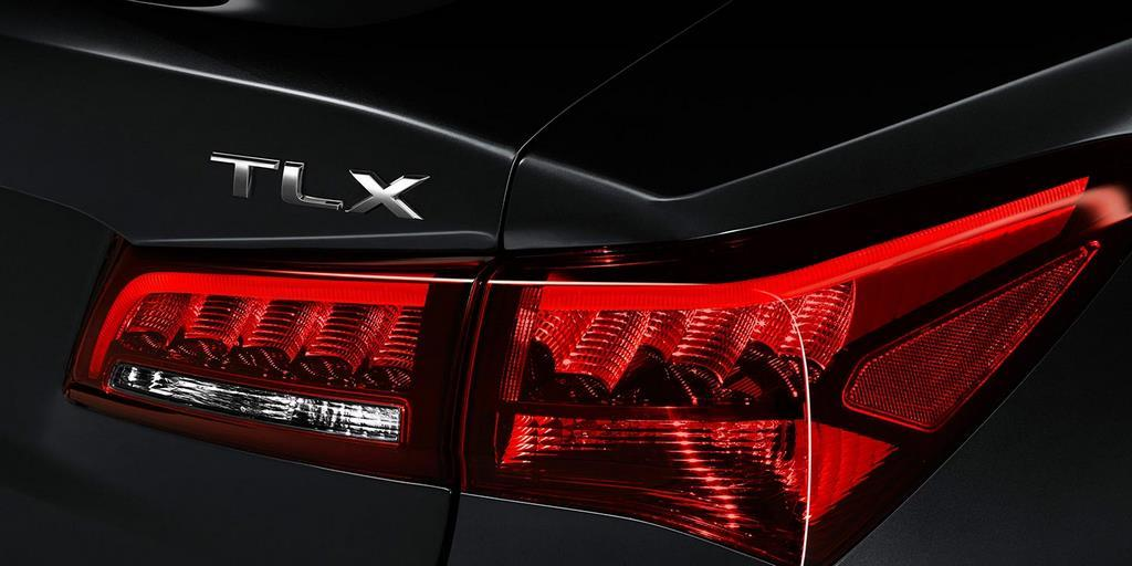 2015 tlx exterior in crystal black pearl tail light