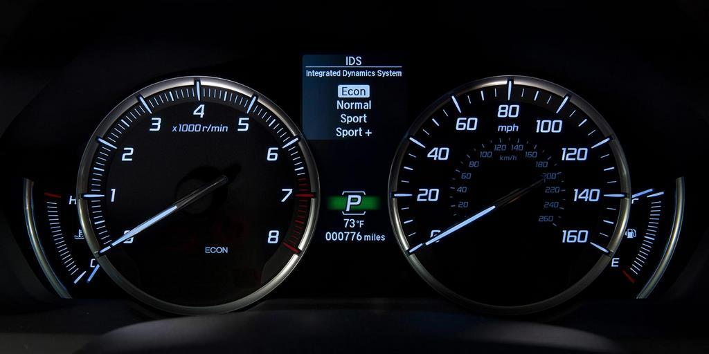 2015 tlx interior v 6 gauge cluster