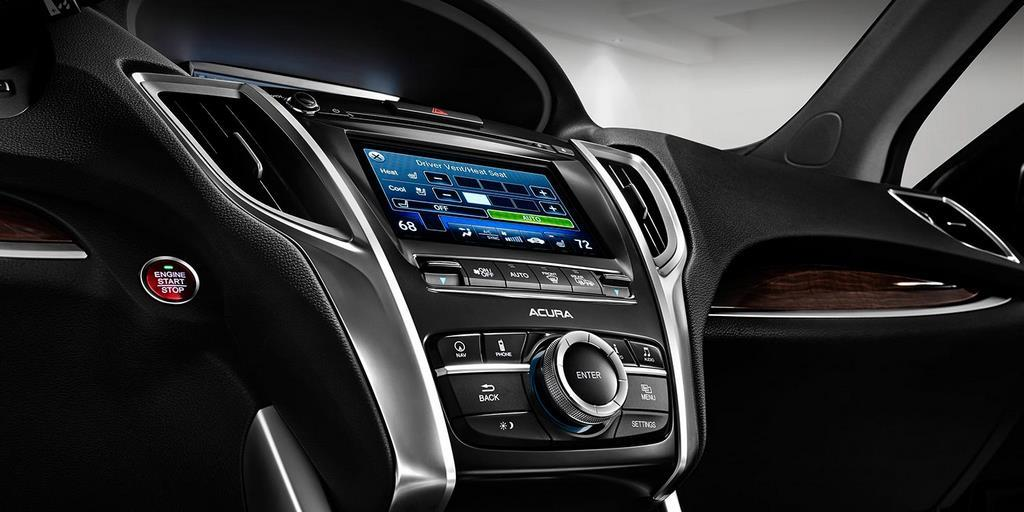 2015 tlx interior v 6 with technology package and ebony interior center console