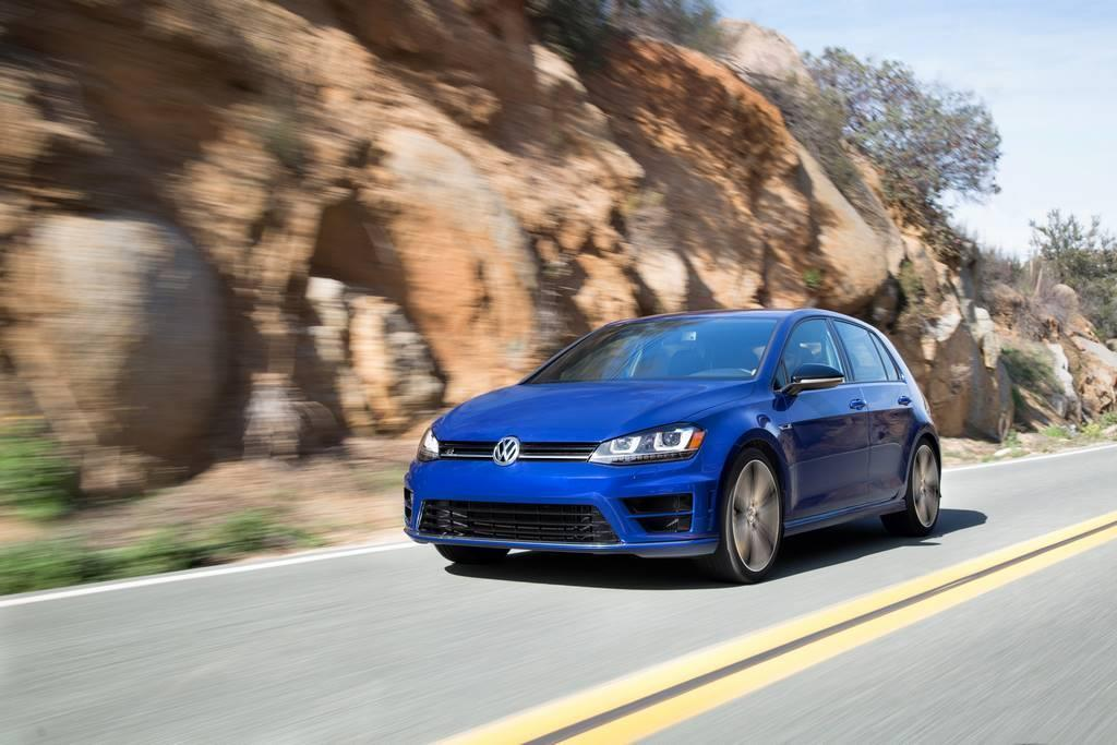 2015 VW Golf R driving