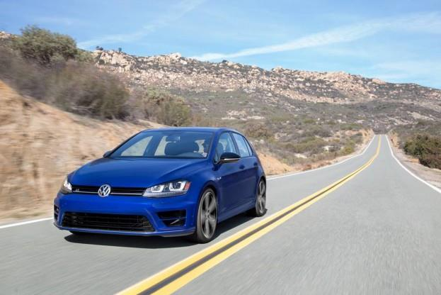 2015 VW Golf R on road